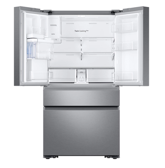 Samsung RF23M8070SR/AA 23 cu. ft. Counter Depth 4-Door French Door Refrigerator in Stainless Steel