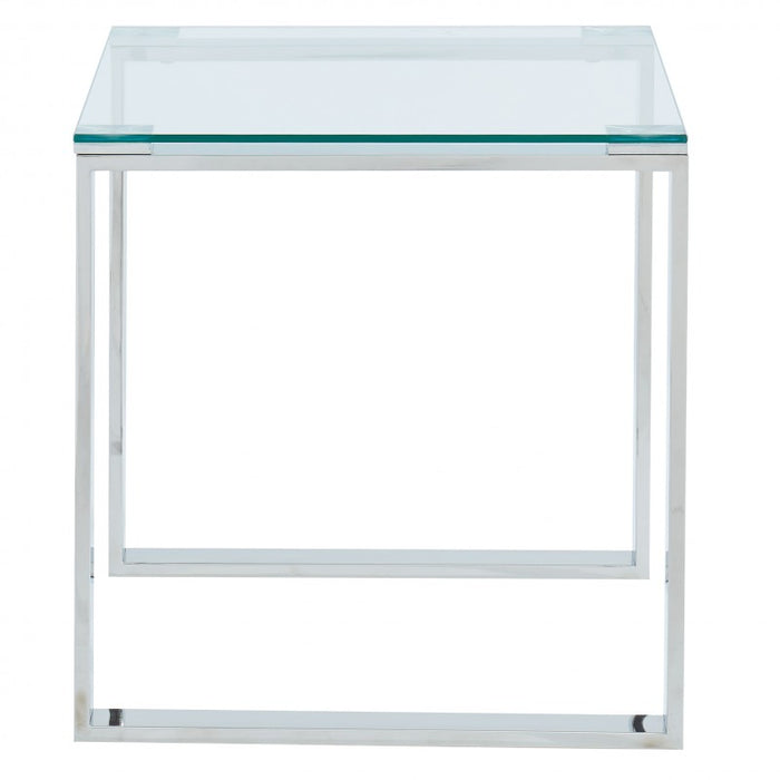 Inspire 501-408CH Zevon Accent Table in Silver (Each)