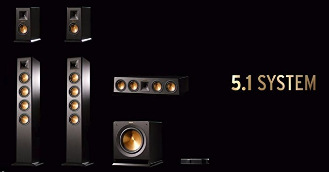Klipsch Reference Premiere HD Wireless 5.1 Floorstanding and Monitor System w/ 10″ Subwoofer