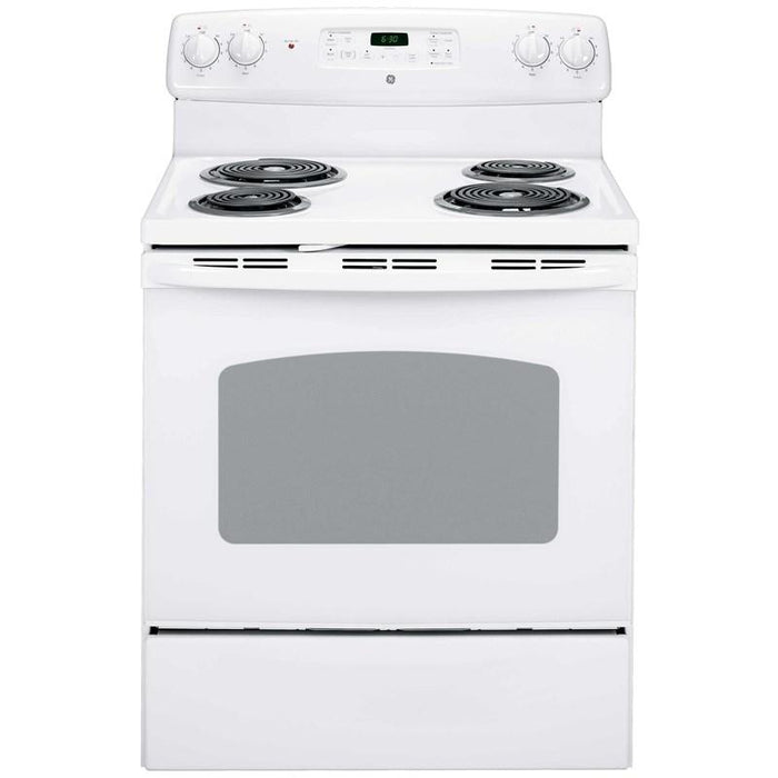 GE JCBP240DMWW 30-Inch Free Standing Electric Self Cleaning Range In White