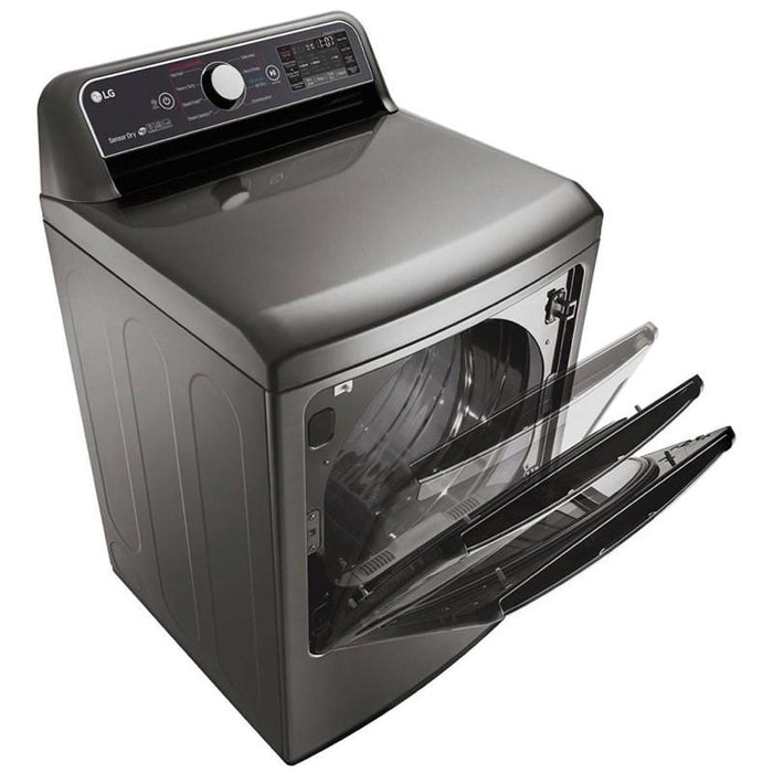 LG DLEX7300VE 7.3 Cu. Ft. Electric Dryer with TurboSteam Technology in Graphite Steel