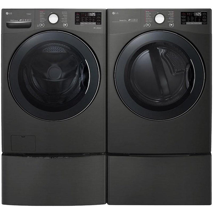 LG DLEX3900B 7.4 Cu. Ft. Smart Wi-Fi Enabled Electric Dryer With TurboSteam in Black