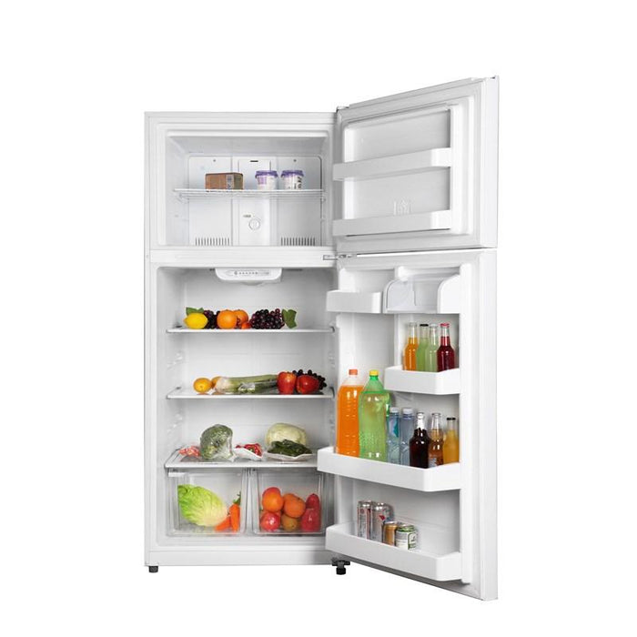GE GTS18FTLKWW 30-Inch 18 Cube Feet Top Freezer Refrigerator With LED Lighting In White