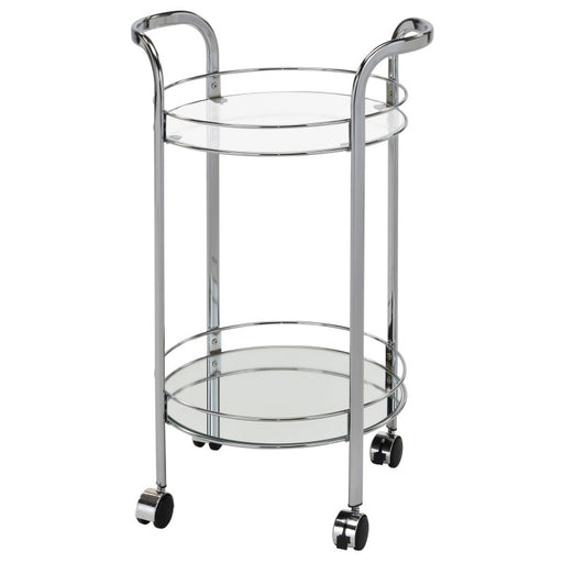 Worldwide 556-754CH Neema 2-Tier Bar Cart in Chrome (Each)
