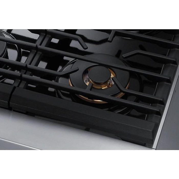 "Samsung NY36R9966PS/AA 6.3 cu. ft. 36"" Chef Collection Professional Dual Fuel Range in Stainless Steel"