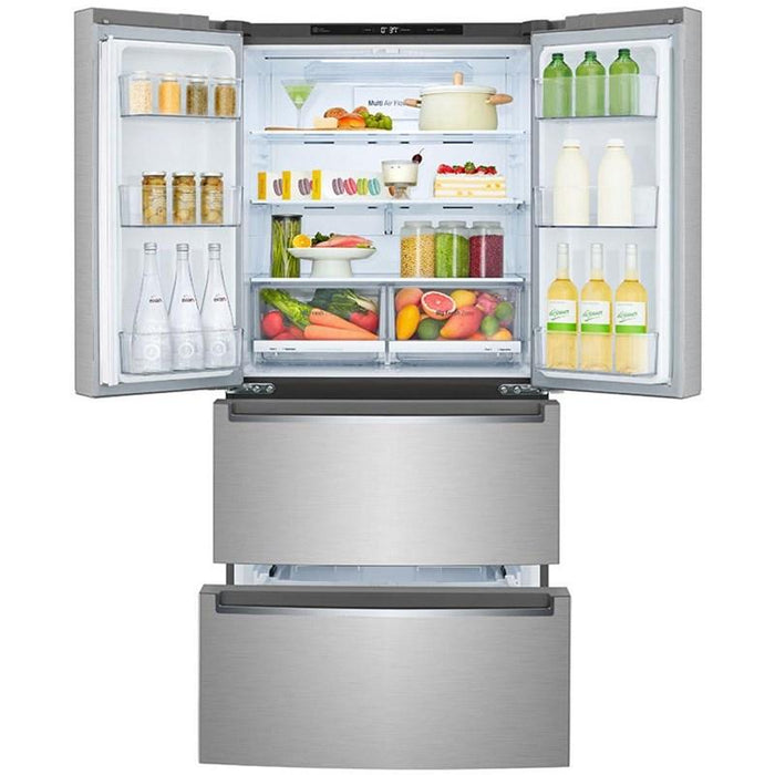 LG LRMNC1803S 33-Inch 19 Cu. Ft. Counter-Depth French Door Refrigerator In Stainless Steel