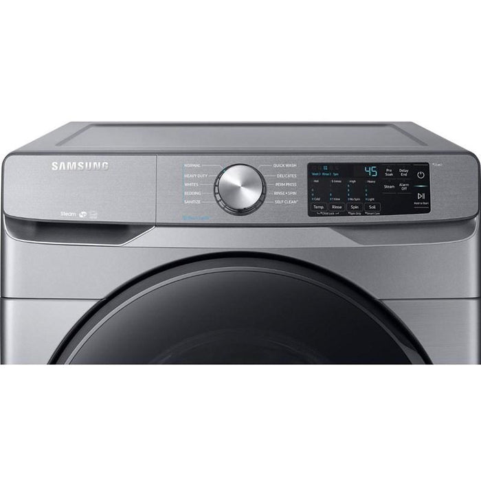 Samsung WF45R6100AP/US 5.2 cu. ft. Front Load Washer with Steam in Platinum