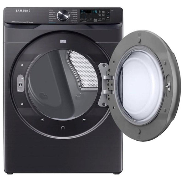 Samsung DVE50R8500V/AC 7.5 cu. ft. Smart Electric Dryer with Steam Sanitize+ in Black Stainless Steel
