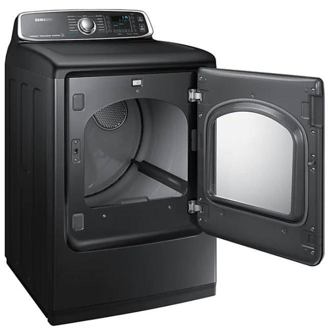Samsung DVE52T7650V/AC 7.4 Cu.Ft. Electric Dryer with Steam Sanitize+ in Black Stainless Steel