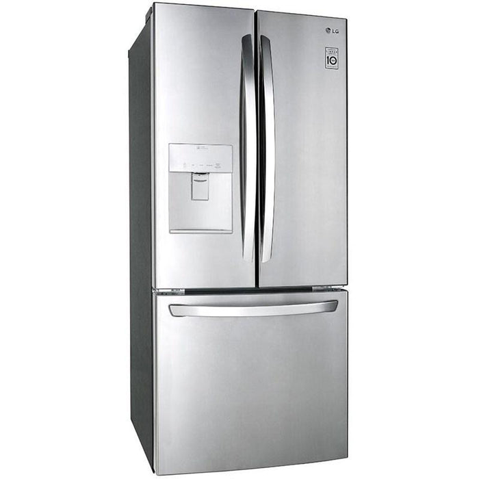 LG LFD22716ST 30-Inch 22 Cu. Ft. French Door Refrigerator with Smart Cooling System in Stainless Steel