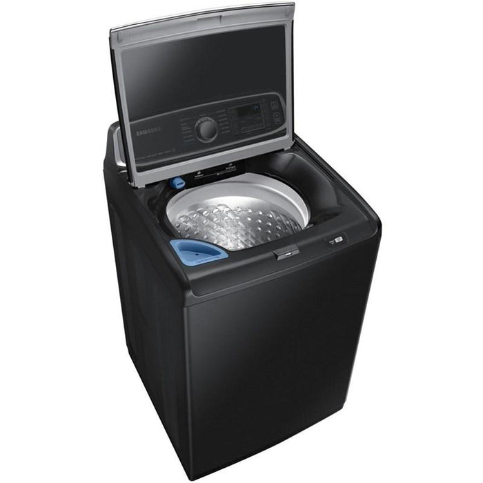 Samsung WA52T7650AV/A4 6.0 cu.ft. High Efficient Top Load Washer with Super Speed in Black Stainless Steel