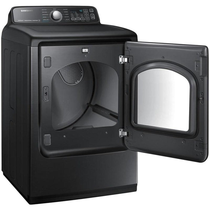 Sansung DVE50T7455V/AC 7.4 Cu.Ft. Electric Dryer with Steam Sanitize+ in Black Stainless Steel