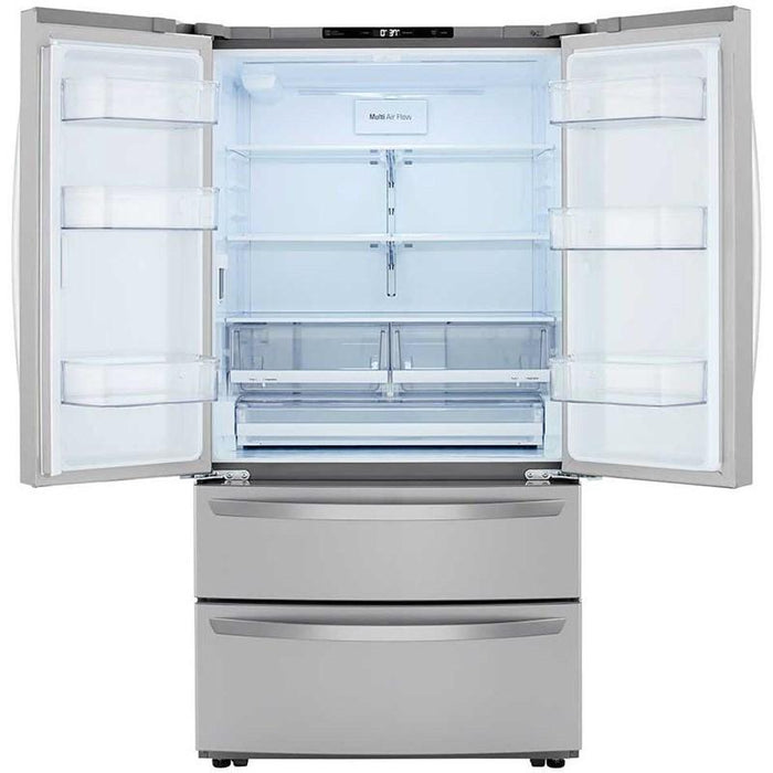 LG LMWS27626S 27 Cu. Ft. French Door Refrigerator in Stainless Steel