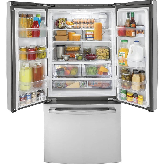 GE 18.6 Cu. Ft. French Door Counter-Depth Refrigerator - Refrigerator - GE - Topchoice Electronics