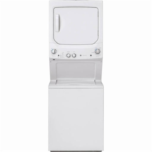 GE GUD27GSSMWW Unitized Spacemaker 11-Cycle Washer and 4-Cycle Gas Dryer Combo - White - Laundry Pair - GE - Topchoice Electronics