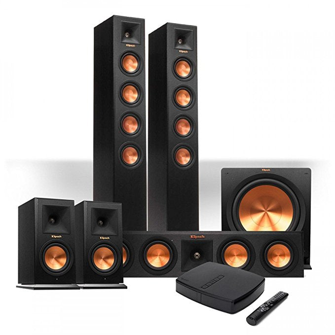 Klipsch Reference Premiere HD Wireless 5.1 Floorstanding and Monitor System w/ 10″ Subwoofer - Speakers Package - Klipsch - Topchoice Electronics