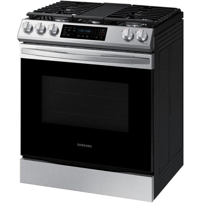 Samsung NX60T8511SS/AA 6.0 Cu. Ft. Gas Range with True Convection and Air Fry In Stainless Steel