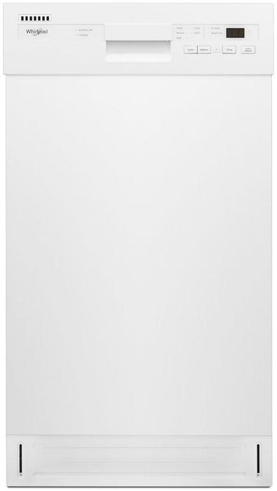 Whirlpool WDF518SAHW Small-Space Compact Dishwasher with Stainless Steel Tub - White