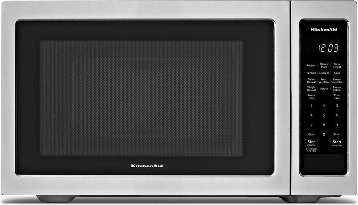 KitchenAid YKMCS1016GS Countertop Microwave (1.6 Cu. Ft.) - Stainless Steel - Microwaves - KitchenAid - Topchoice Electronics