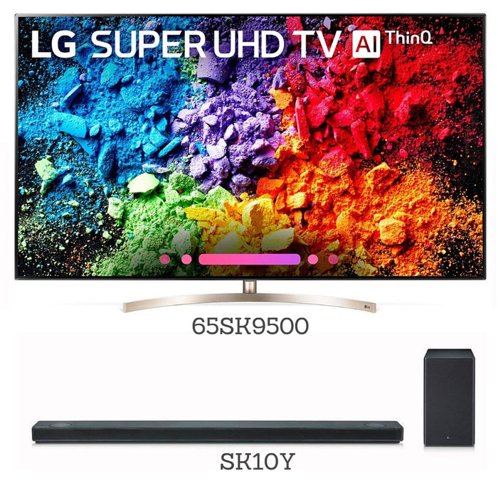 "Prime Deal - LG 65"" 4K UHD HDR LED webOS Smart TV (65SK9500) + LG SK10Y 550-Watt 5.1.2 Channel Sound Bar"