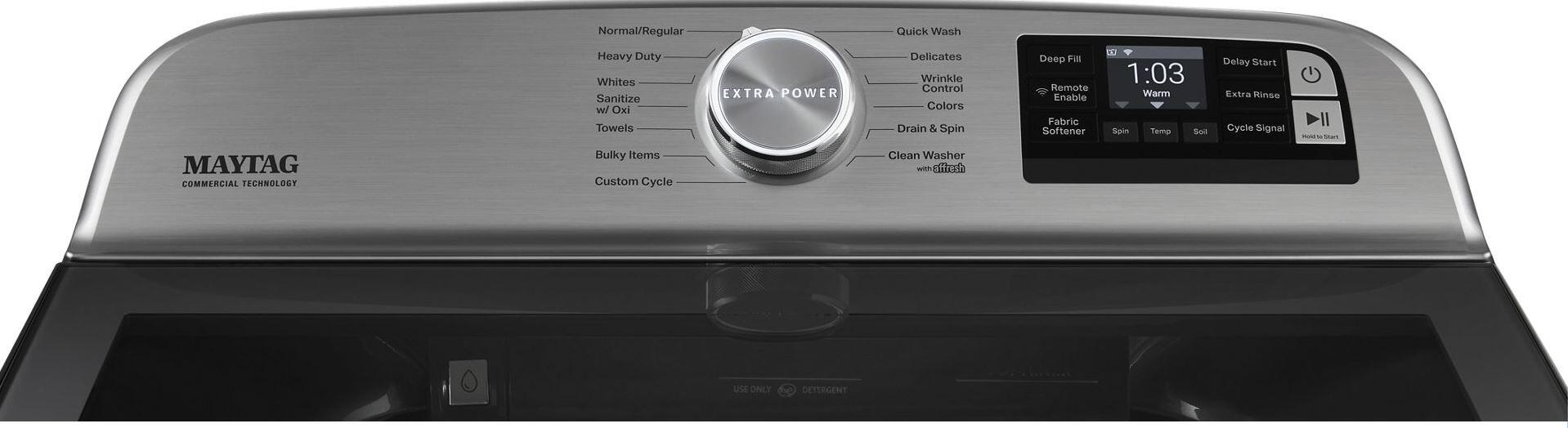Maytag MVW7230HC 6 Cu. Ft. High Efficiency Top Load Washer In Metallic Slate