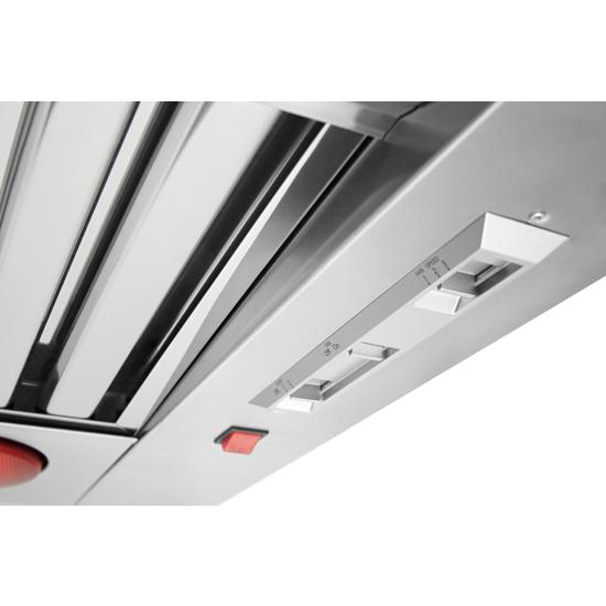 KitchenAid KVWC958JSS 48'' 585-1170 CFM Motor Class Commercial-Style Wall-Mount Canopy Range Hood in Stainless Steel