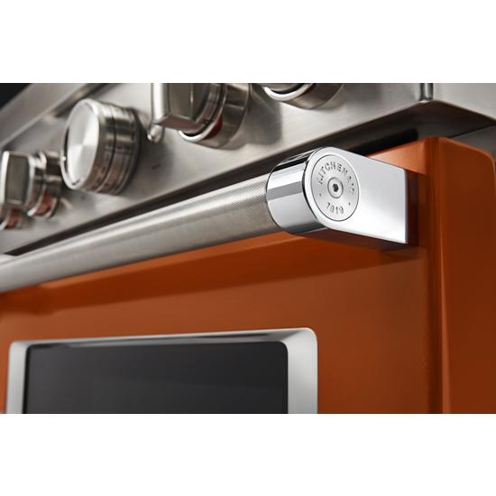 KitchenAid KFGC500JSC 30'' Smart Commercial-Style Gas Range with 4 Burners in Scorched Orange
