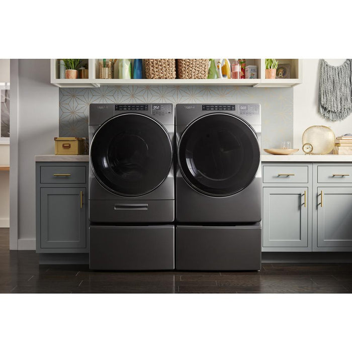 Whirlpool WFW6620HC 5.2 Cube Feet I.E.C. Closet-Depth Front Load Washer With Load & Go XL Dispenser In Chrome Shadow
