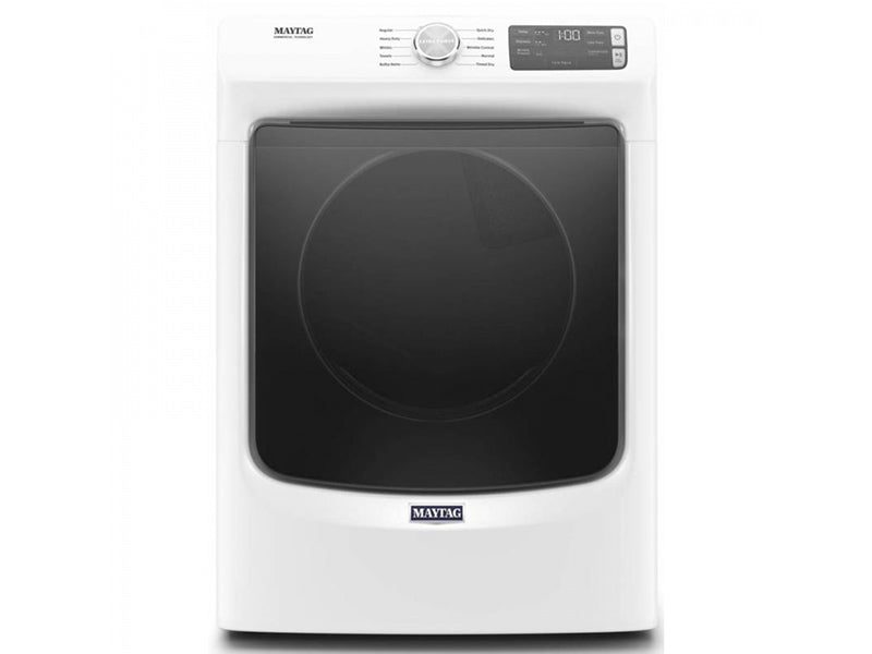 Maytag YMED5630HW 7.3 Cube Feet Front Load Electric Dryer With Extra Power And Quick Dry Cycle In White