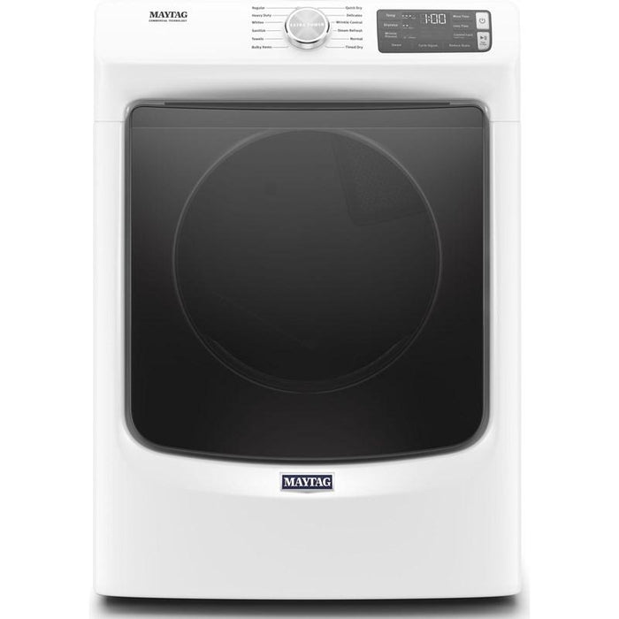 Maytag YMED6630HW 7.3 Cube Feet Front Load Electric Dryer With Extra Power And Quick Dry Cycle In White