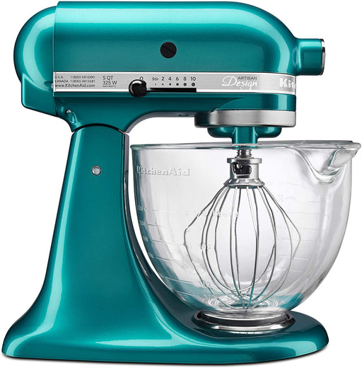 KitchenAid 5-Quart Artisan Design Series Mixer with Bowl, Sea Glass - KSM155GBSA