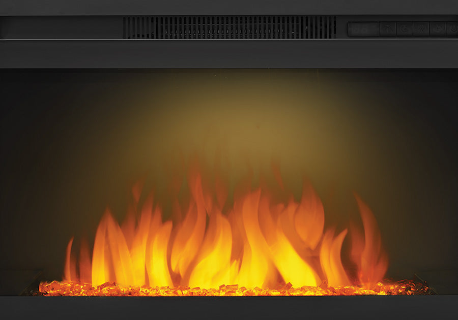Napoleon Cinema 24 Inch Electric Fireplace With Crystals Nefb24hg