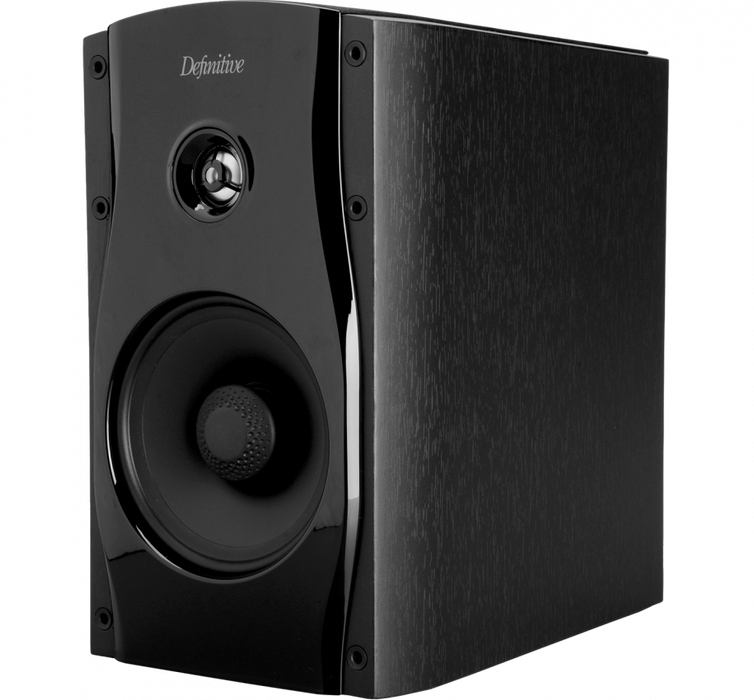 Definitive Technology Studio Monitor 55 Bookshelf Speakers Top-Mounted Racetrack Bass Radiator - Individual