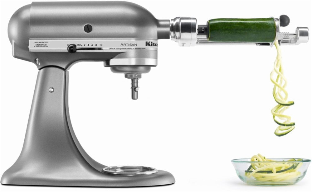 KitchenAid KSM1APC 5 Blade Spiralizer with Peel, Core and Slice - Metal - Attachments - KitchenAid - Topchoice Electronics