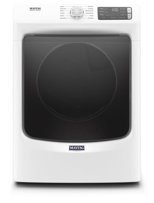 Maytag MGD6630HW 7.3 Cube Feet Front Load Gas Dryer With Extra Power And Quick Dry Cycle In White