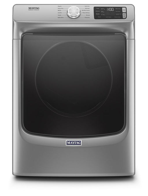 Maytag MGD6630HC 7.3 Cube Feet Front Load Gas Dryer With Extra Power And Quick Dry Cycle In Metallic Slate