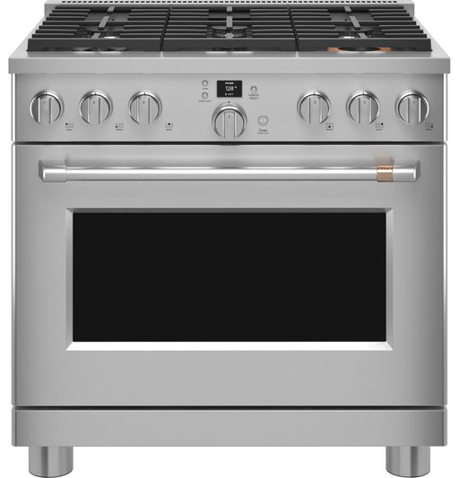 "GE Cafe C2Y366P2TS1 36"" Dual-Fuel Professional Range with 6 Burners (Natural Gas)"