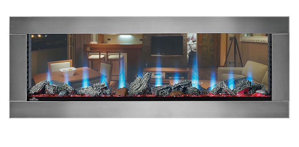 Napoleon CLEARion See Thru 50 Inch Electric Fireplace with Black Trim - NEFBD50H
