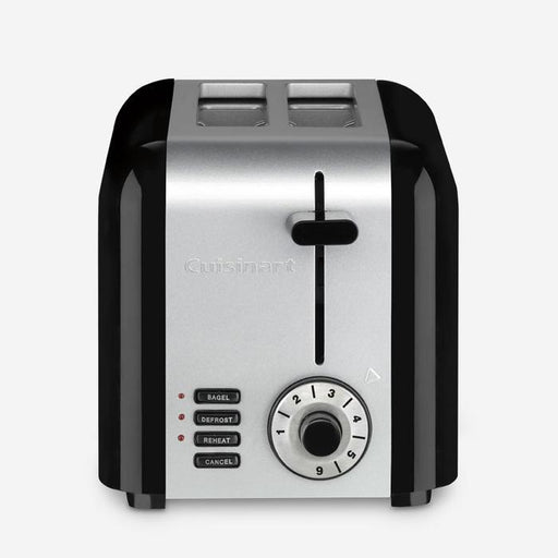 Cuisinart (CPT-320UC) 2-Slice Compact Stainless Toaster, Black/Silver