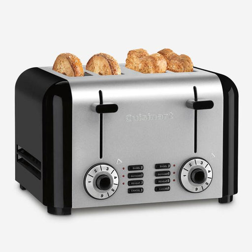 Cuisinart (CPC-340UC) 4-Slice Classic Stainless Steel Toaster - Black/Silver