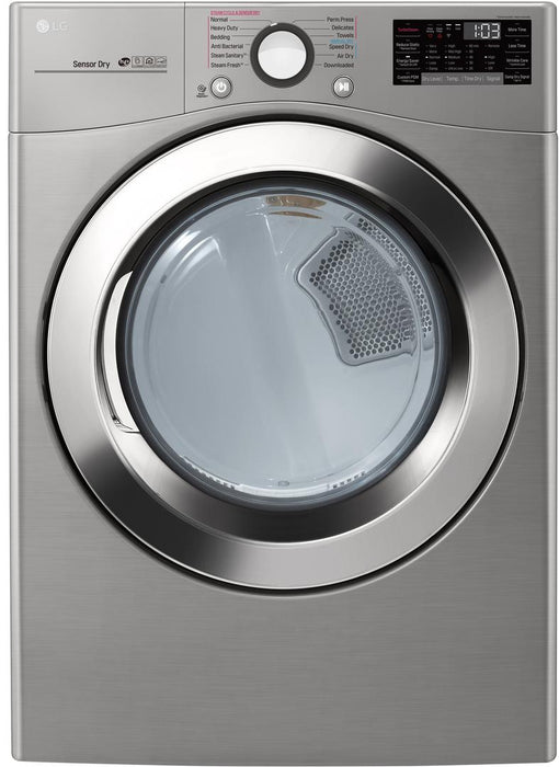 LG DLEX3700V 7.4 cu. ft. Smart Electric Dryer With TurboSteam in Graphite Steel