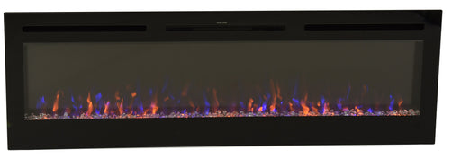 FlameHaus 65 Inch Multi Color Fireplace with Touch Screen and Remote control -FH65CLR3