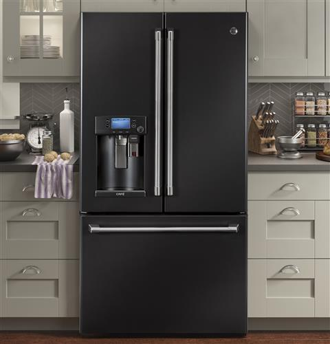 GE CAFÉ 22.2 Cu. Ft. Counter-Depth French-Door Refrigerator with Keurig Brewing System - Refrigerator - GE CAFE - Topchoice Electronics