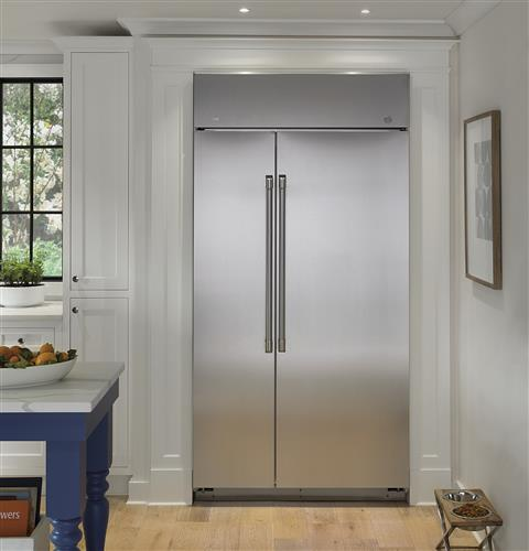 "GE CAFÉ CSB48WSKSS 48"" Built-In Side-by-Side Refrigerator - Stainless Steel - Refrigerator - GE CAFE - Topchoice Electronics"