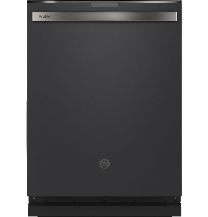 GE Profile PDT715SFNDS Stainless Steel Interior Dishwasher with Hidden Controls In Black Slate