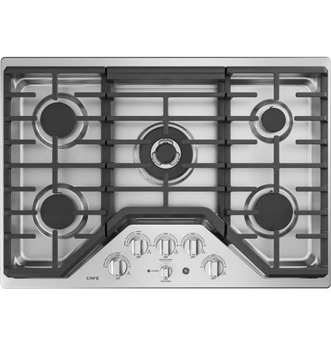 "GE CAFÉ CGP9530SLSS 30"" Built-In Gas Cooktop - 	Stainless Steel - Cooktop - GE CAFE - Topchoice Electronics"