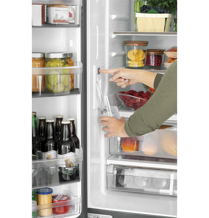 GE Cafe CWE19SP4NW2 ENERGY STAR® 18.6 Cu. Ft. Counter-Depth French-Door Refrigerator in Matte White