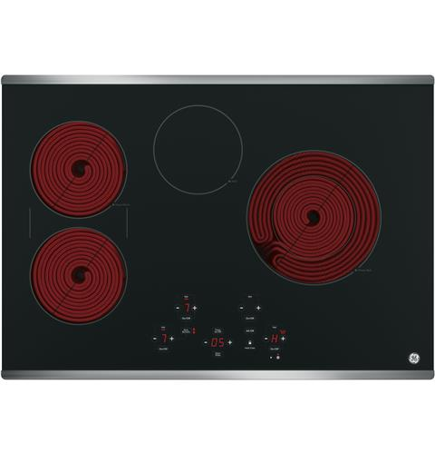 "GE JP5030SJSS 30"" Built-In Touch Control Electric Cooktop - Stainless Steel - Cooktop - GE - Topchoice Electronics"