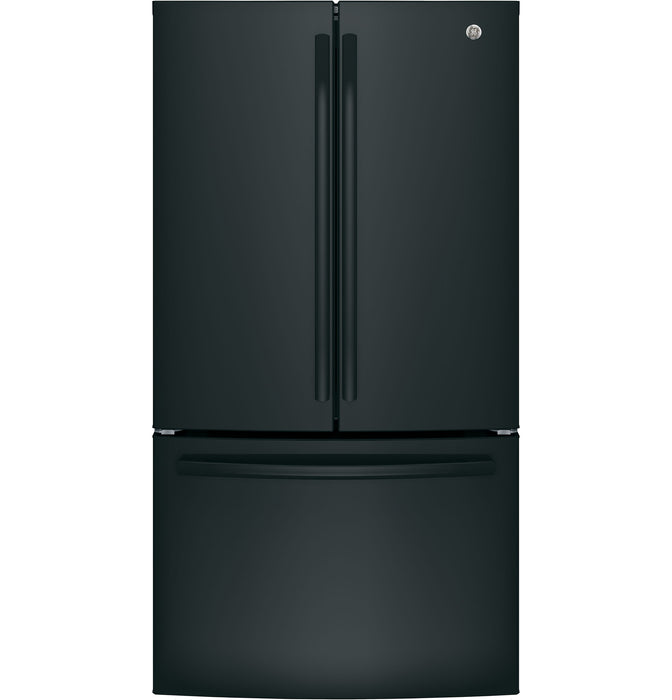 GE Cafe GNE27JGMBB Energy Star 27.0 Cube Feet French-Door Refrigerator