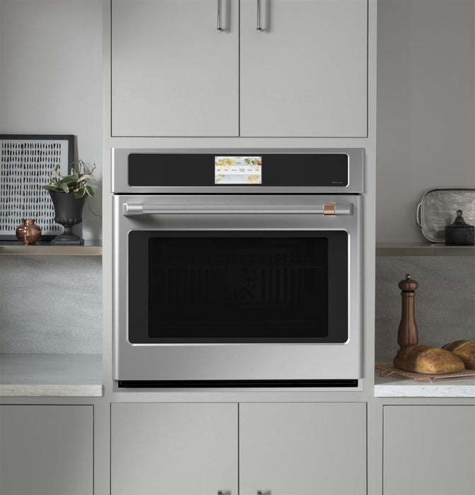 "GE Cafe CTS70DP2NS1 30"" Smart Single Wall Oven with Convection in Stainless Steel"